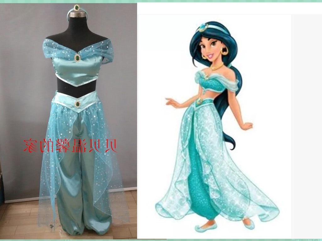 Ladies Sexy Aladdin Princess Jasmine Costume Adults