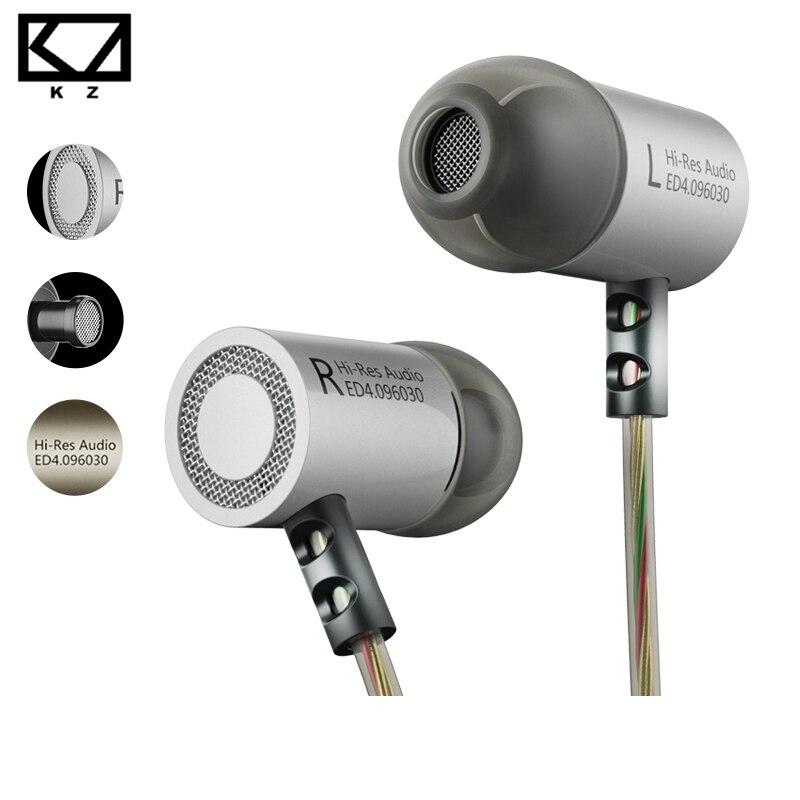KZ ED4 Écouteurs DJ MP3 auriculares Métal Stéréo Bruit Isoler In-Ear Écouteurs Musique Auriculares fone de ouvido DJ audifonos