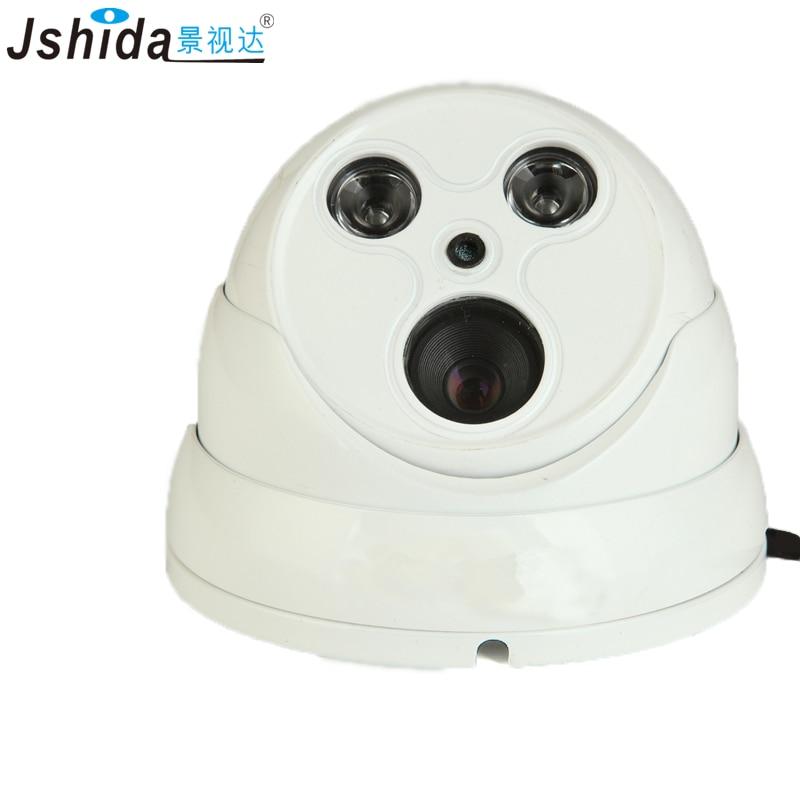 Jshida 2MP IP Camera Vandal-proof Dome Security CCTV Camera 1080P 25m IR Night Vision ONVIF P2P Full HD Hi3516C CMOS Camera cctv 2mp ip camera 1080p full hd camera ip outdoor p2p metal ir dome night vision waterproof cctv camera ir cut onvif 2 4