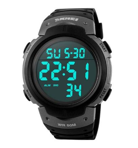 SKMEI мужские спортивные часы для активного образа жизни беговые большие цифровые часы хронограф 50 м водонепроницаемые часы - 4