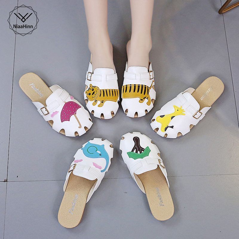 Beach Sandals Nurse Doctor Comfortable Breathable Anti-skid Soft Bottom Surgical Slippers Woman Hospital Laboratory Work Shoes