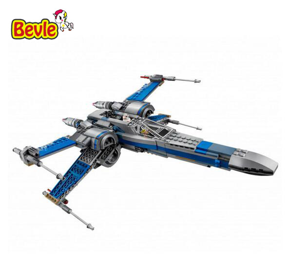 740pcs Star War First Order Poe's X Wing Fighter Building