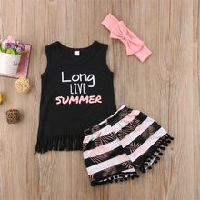 Baby Girl Summer Outfits Clothes 3PCS Set