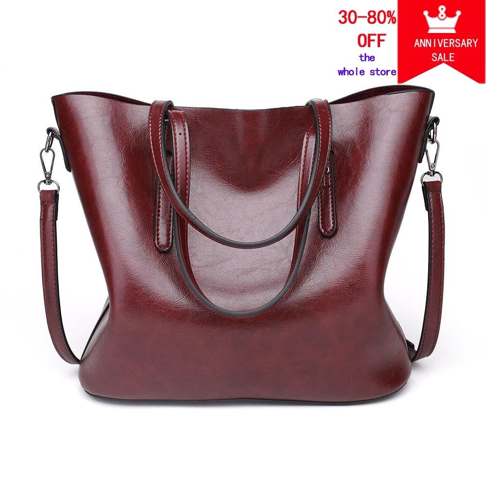 wax oil leather bag ladies hand bags women leather handbag designer handbag high quality woman bag women famous brand sac a main mengxilu oil wax leather women bag high