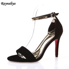 Women Sandals 2018 New Summer 100% Genuine Leather High Heel Big Size 33-43 Open Toe Shoes Sandal 9CM XZL-B0063 цена 2017