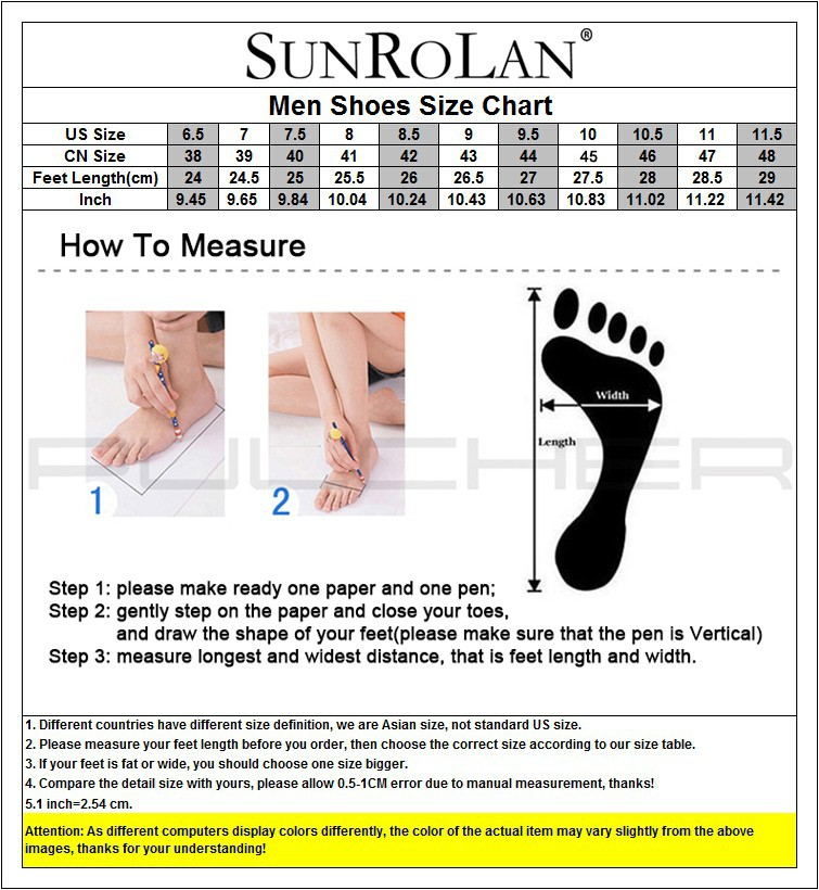 sunrolan men size chart