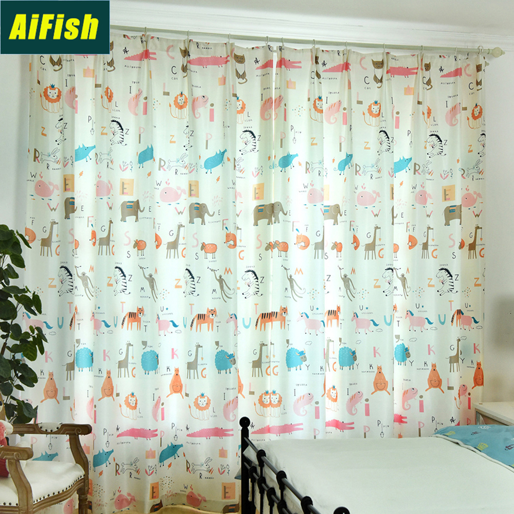 "Kids ABC Alphabet Numbers Animals Ready Made Pencil Pleat  66/"" x 54/"" Curtains"