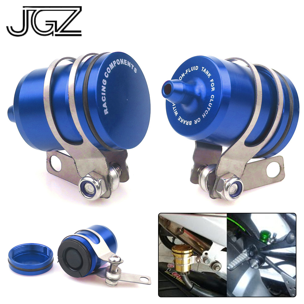 Blue CNC Aluminum Motorcycle Rear Brake Fluid Tank Reservoir Cup for YAMAHA MT10 MT07 MT09 VMAX XSR700 SR400 SCR950 TRACER 900 large size 7cm 7cm motorcycle gsxr gsx r brake oil reservoir sock fluid tank cup cover cuff sleeve for suzuki blue black red