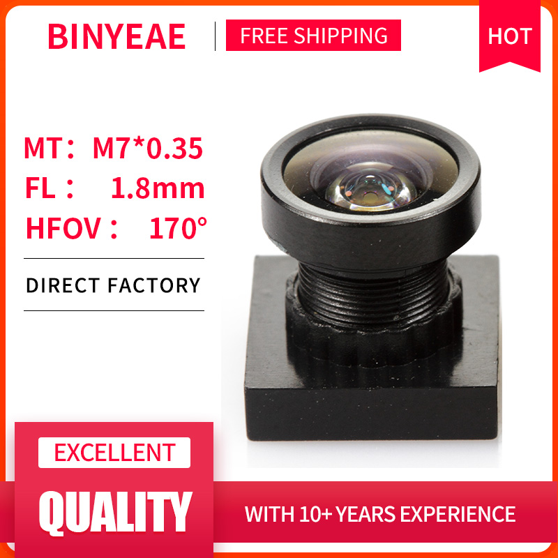 BINYEAE HD 2MP Mini Lens 1.8mm M7 Pinhole Lens F2.0 1/4