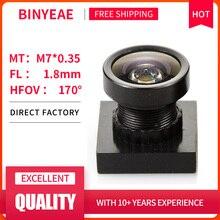"""BINYEAE HD 2MP Mini Objektiv 1,8mm M7 Pinhole Objektiv F2.0 1/4 """"Bild Sensor für CCTV Sicherheit Kameras"""
