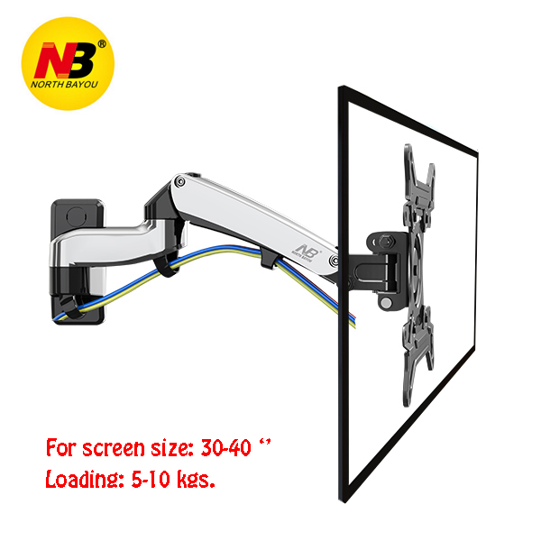 NB F300 TV Wall Mount 30 40 inch Monitor Holder Gas Spring Free Lifting Swivel Stretchable Tilt Stands Aluminum Long Arm Bracket in TV Mount from Consumer Electronics