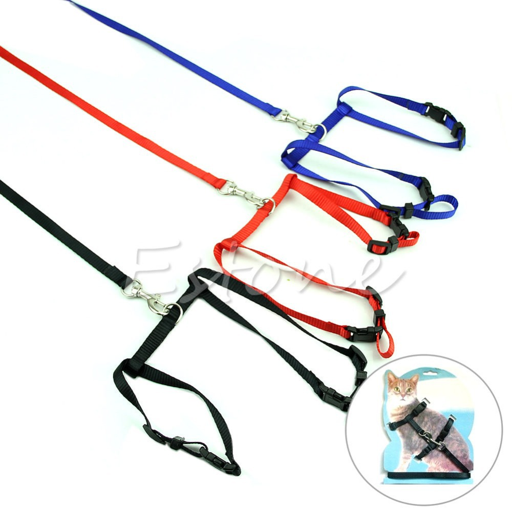 Adjustable Nylon Rope Pet Dog Puppy Cat Lead Leash Harness Walking Chest Strap