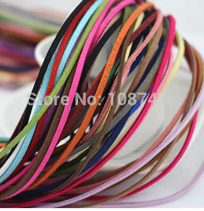 20 meter Fauxwood Suede mixed color Leather Cord 3mm Jewelry Line Necklace Bracelet Jewelry Cord handwork  Line