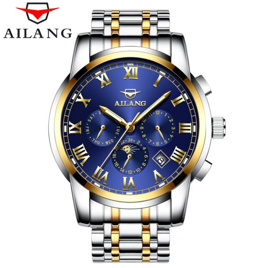 6 Hand Multifunction Mechanical Watches Luminous Display Roman Numerals AILANG Top Brand Waterproof Fashion Men Watch 20186 Hand Multifunction Mechanical Watches Luminous Display Roman Numerals AILANG Top Brand Waterproof Fashion Men Watch 2018