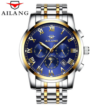 6 Hand Multifunction Mechanical Watches Luminous Display Roman Numerals AILANG Top Brand Waterproof Fashion Men Watch 2018