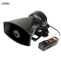 2 In 1 5 Sound Tone Electronic Emergency Warning Siren Alarm Loudspeaker Annunciator Max 300db 100W