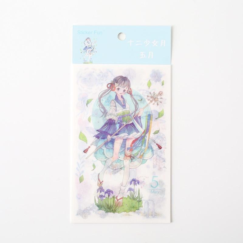 Kawaii Милая наклейка для девочки в стиле декабрина и ветра, декоративная наклейка для ноутбука, декоративная наклейка для рисования, канцелярские товары - Цвет: 5