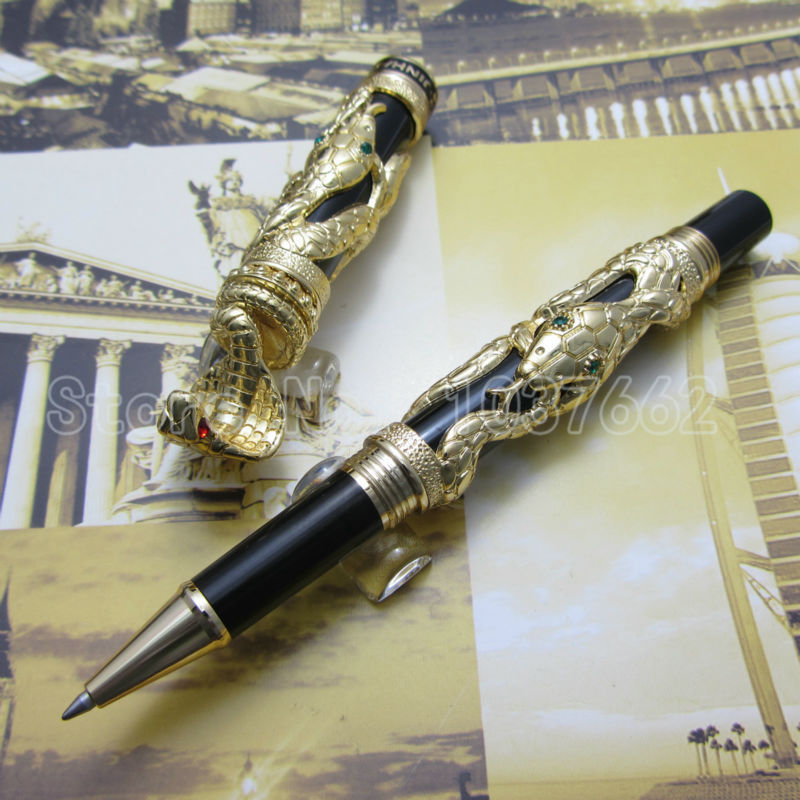 3pcs jin hao pen upscale beautiful snake roller pen nib Gift pen in Ballpoint Pens from Office School Supplies