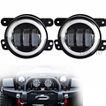 "On sale ! 4 Inch Led Fog Light With DRL Fog Lamp white Halo Angel Eyes 4 "" Halo LED Fog Lamp For Jeep Wrangler LED Fog Lamp"