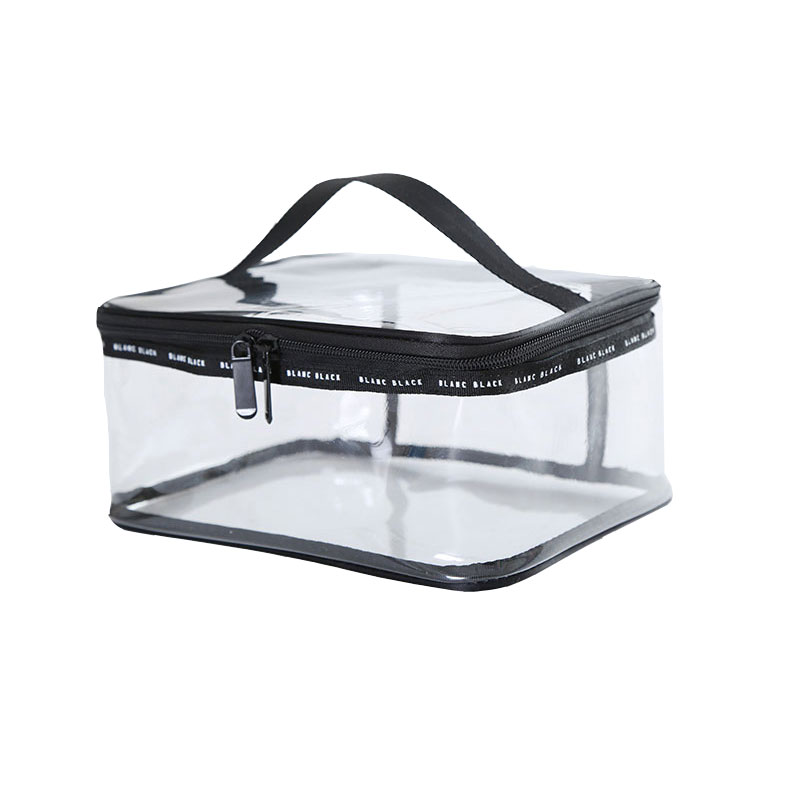 Waterproof PVC Transparent Women Travel Costmetic Bag Fashion Portable Trunk Zipper Makeup Organizer