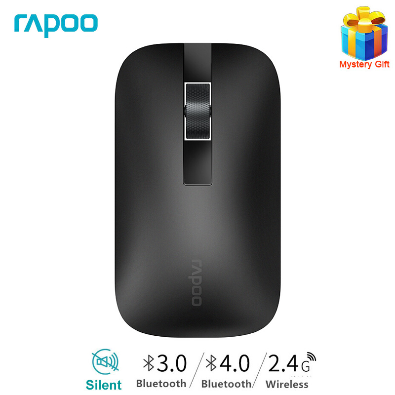 Rapoo M550 Silent Multi-mode Wireless Mouse Bluetooth Mouse Office Mouse Optical Mouse With 1300DPI For Tablet/Laptop/Phone