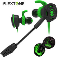 Plextone Gaming Headset With Microphone Earphone Headphone Phone PC Laptop Original Genuine For Gamer 3 5MM