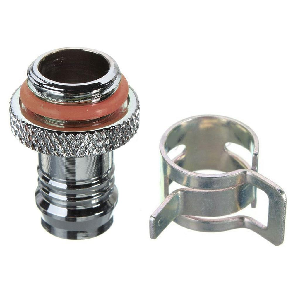 Barb Fitting Water Cooling Radiator for 3//8/'/' ID Turbing G1//4 Chromed DEL Charm