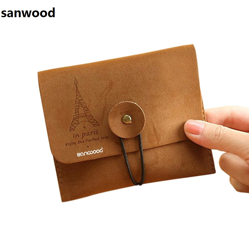 Coin Purses Women Purse for Coins Children's Wallet Kids Wallets 2016 Men's Vintage Eiffel Tower Small Fold Key Pouch 9IHV coin purses women purse for coins children s wallet kids wallets cats fashion small bag gato monederos mujer monedas carteira