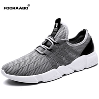 Fooraabo New Breathable Men Casual Shoes Comfortable Soft Walking Shoes Lightweight Male Sapato Mesh Fashion Sneakers