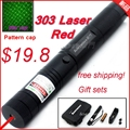 [ReadStar]RedStar 303 high 1W Red laser pointer laser pen burn match plastic box set include star pattern cap battery & charger
