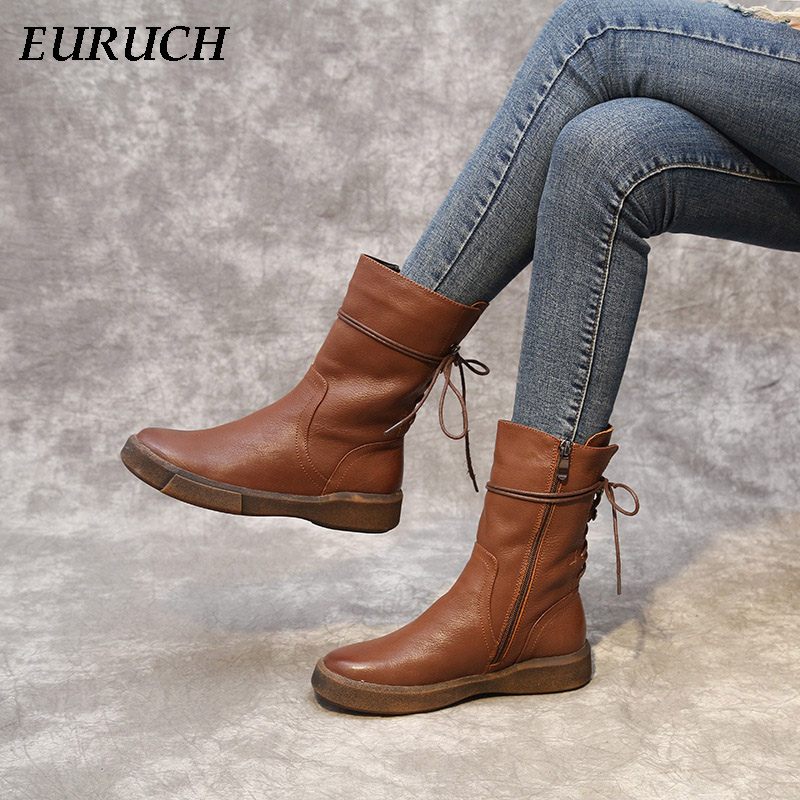 Fashion Snow Boot Fur Warm Winter Shoes Women ankle boots Shoes Genuine Leather Vintage Zip Ladies Motorcycle Boots felt boots pritivimin fn81 winter warm women real wool fur lined shoes ladies genuine leather high boot girl fashion over the knee boots