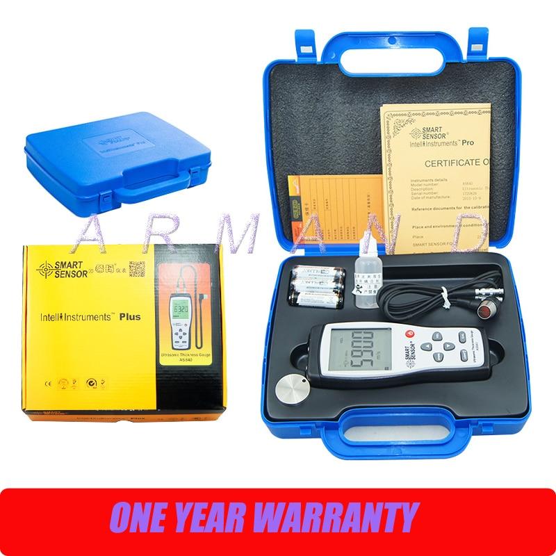 AS840 Ultrasonic Thickness Gauge 1.2-225mm 1000-9999m/s Smart Sensor Portable thickness meter tester as840 ultrasonic thickness gauge 1 2 225mm 1000 9999m s smart sensor portable thickness meter tester