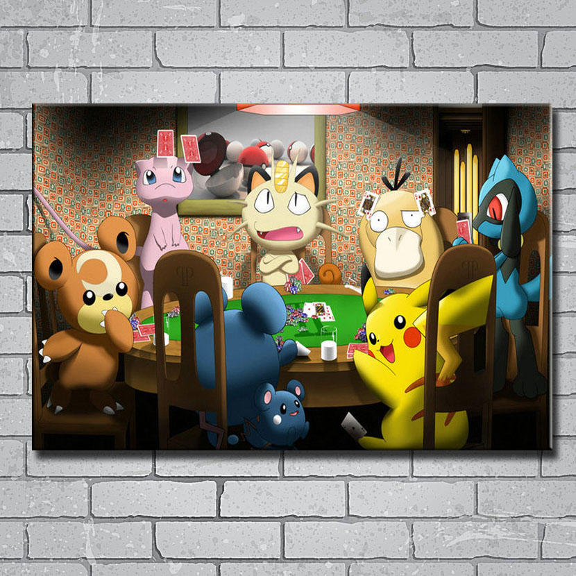 Pokemon poster wall art home decoration photo print 24x24 inches