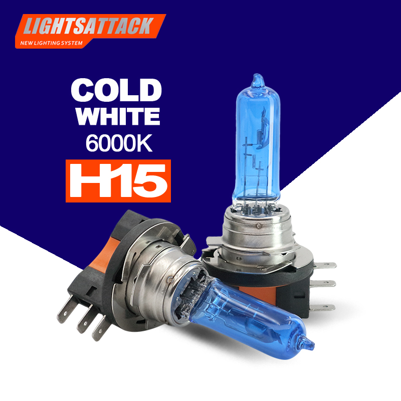 PEGASUS Car Halogen Headligh H15 1500lm Auto Bulb Headlamp 6000K