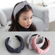6 colors Winter fall velvet hair bow knot hairbands kids teens hair band headband good size for girl woman hair accessories D75