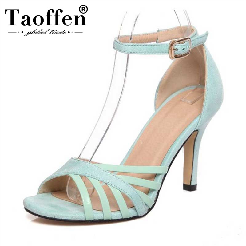 TAOFFEN Women High Heel Spring Gladiator Sandals Thin Heels Wedding Party Summer Shoes Women High Quality Pumps Size 33-43TAOFFEN Women High Heel Spring Gladiator Sandals Thin Heels Wedding Party Summer Shoes Women High Quality Pumps Size 33-43