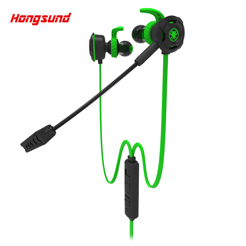 Hongsund G30 Gaming Earphones In Ear Stereo Bass Noise Cancelling Earphone With Mic For Phone PC Notebook Headset Plextone G30
