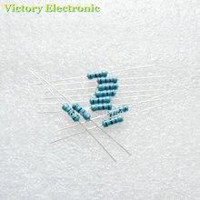 50 шт./лот Новый 1/2 Вт 0.5 Вт 1% Резистор 10 Ом 10R Ом металл Плёнки резистор Цвет кольцо сопротивление