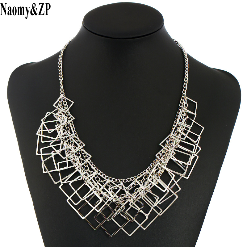 Naomy&ZP Choker Necklace Female 2017 Fashion Jewelry Maxi Statement Necklaces For Women Multilayer Collier Vintage Large Chocker