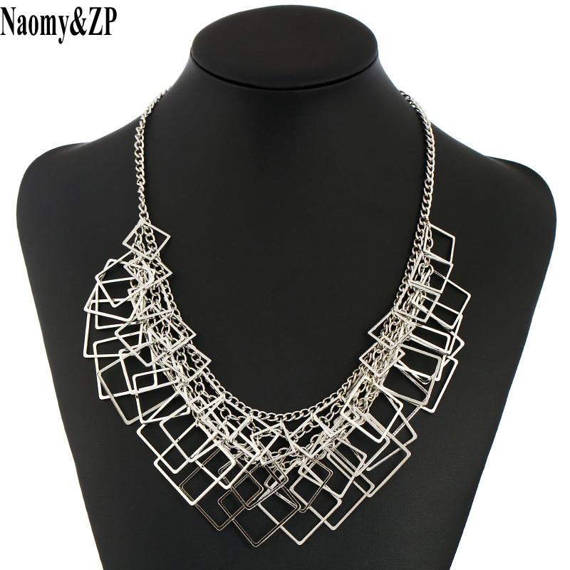 Naomy & ZP Κοσμήματα κολιέ Γυναικεία 2017 Κοσμήματα μόδας κοσμήματα Maxi Δαχτυλίδια για γυναίκες Γυναικεία πολύστρωμα Collier Vintage Μεγάλο Chocker