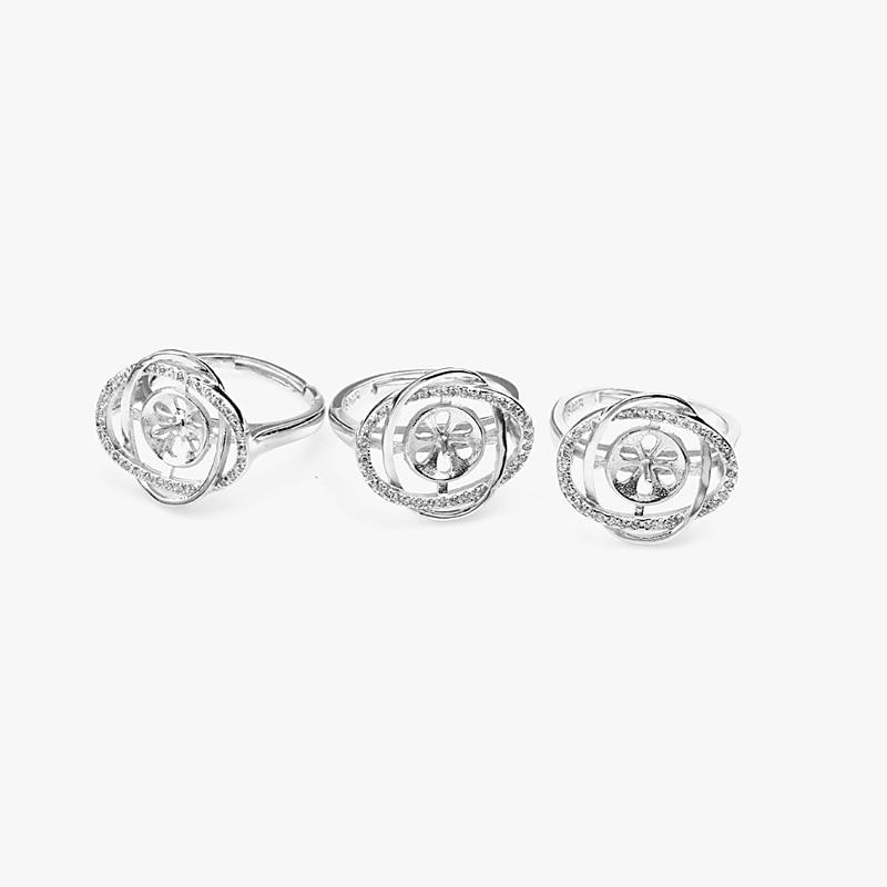 3 Stück 925 Sterling Silber Edelsteinbesetzte Perle - Edlen Schmuck - Foto 4