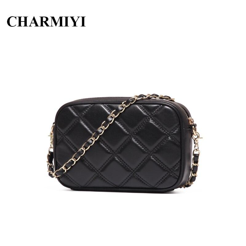 CHARMIYI Mini Genuine Leather women Messenger bags Famous Brand designer sheepskin small fashion Chain Clutch women shoulder bag