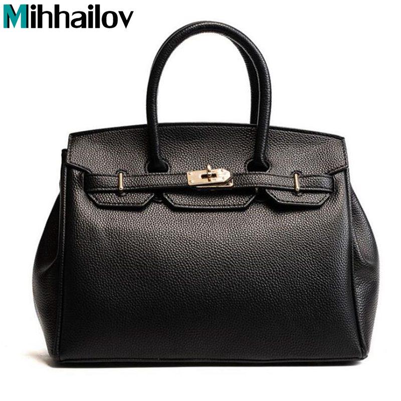 2018 New Luxury Women Bags Ladies Famous Casual Tote Bag Elegent PU Leather Bag Lock Zip ...