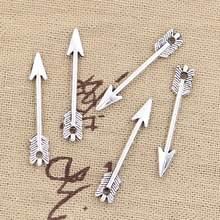 Flecha pingente bronze de prata 50 peças, encantos 30x5mm antigo banhado à mão prata bronze tibetano joias coloridas