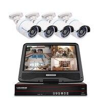 Techage 8CH 1080 P POE 10,1 дюймов ЖК-монитор система NVR 4 шт. комплект ip-камер видеонаблюдения 2MP безопасности водонепроницаемый комплект видеонаблюден...