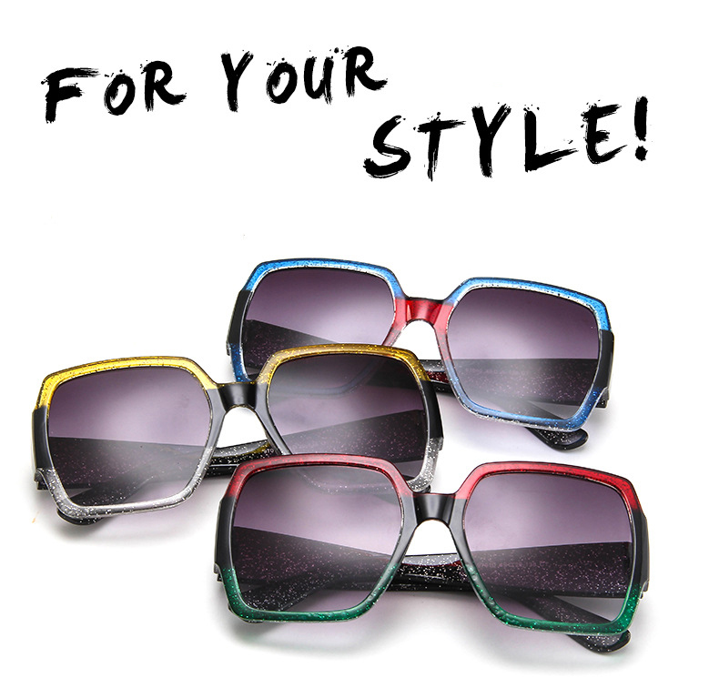 19 Oversized Sunglasses for Women Brand Designer Retro Sun glasses Red Green Shades Eyewear sunglasses woman 2