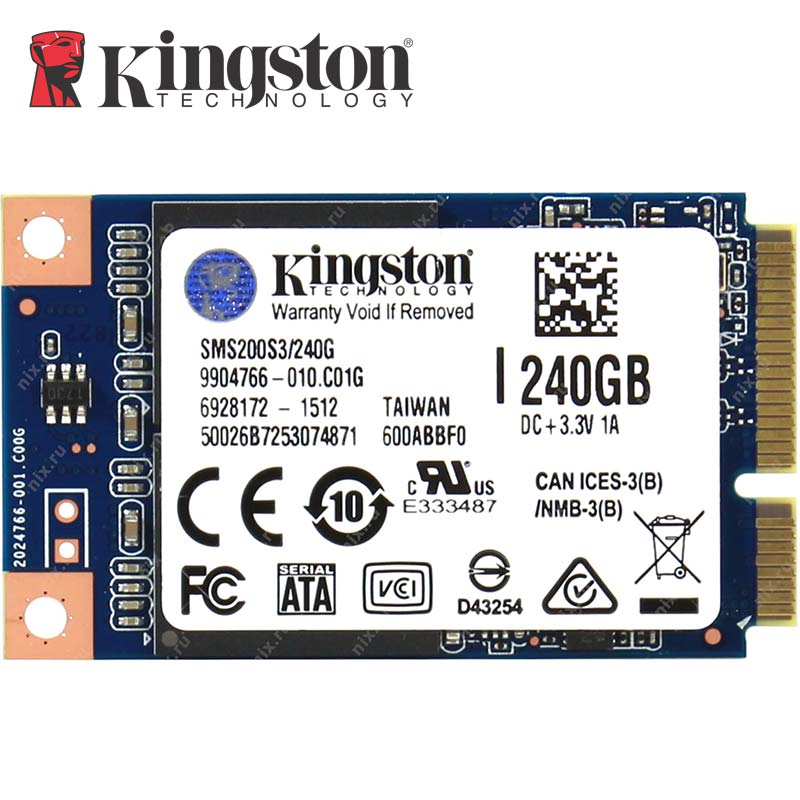 Kingston SSDNow MS200 Drive MSATA SSD Solid State Drive 120GB 240GB Internal Solid State Drive Hard Disk For Laptop PC Desktop