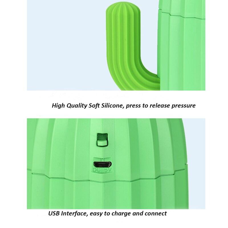 Image 5 - 340 мл, увлажнитель воздуха, кактус, беспроводной Перезаряжаемый распылитель для ароматерапии, распылитель тумана, Fogger, USB, арома распылитель для домаУвлажнители воздуха    АлиЭкспресс