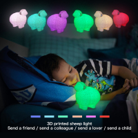 3D Print Rechargeable LED Sheep Lamp USB LED Night Light for Kids Lovers Gift Home Decor