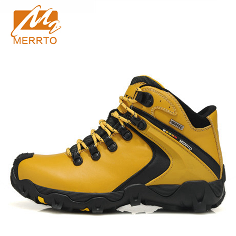 Merrto Womens Hiking Boots Waterproof Outdoor Climbing Shoes Sports Shoes Full-grain leather For Female Women Shoes Boots 2018 merrto women hiking boots waterproof outdoor sports shoes full grain leather plus velvet for women free shipping 18001